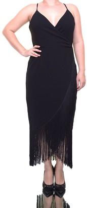 Rachel Roy Women's Fringe Midi Dress