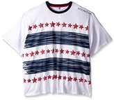 Rocawear Men's Big and Tall Starline Short Sleeve Crew Knt