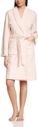 Hanro Women's Long Sleeve Bathrobe - Pink - 10 - 12 UK(Manufacture size:S)