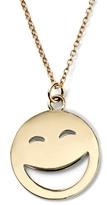 Alison Lou 14K Gold Large ROTFL Face Necklace