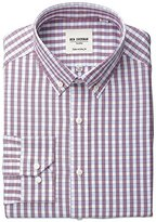 "Ben Sherman Men's Regular Fit Gingham Shirt with Button Down Collar, Red/Blue, 15.5"" Neck 34""-35"" Sleeve"