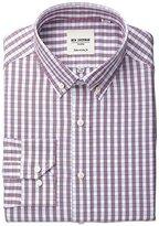 Ben Sherman Men's Regular Fit Gingham Shirt with Button Down Collar