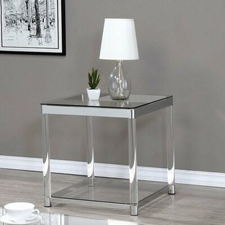 Everly Quinn Prairie Grove Contemporary End Table