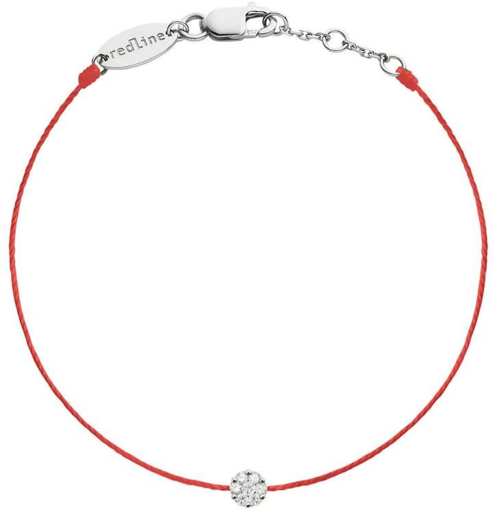 Redline Single Diamond Red Illusion Bracelet - White Gold