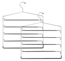 Honey-Can-Do 2-Pc. 5-tier Swinging Arm Pant Rack