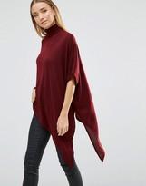 AX Paris High Neck Asymmetric Knitted Top