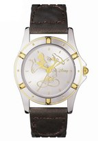 Disney Men's MU2559-MT Mickey Mouse Braided Leather Strap Watch