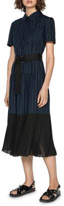 Cue Pinstripe Maxi Shirt Dress