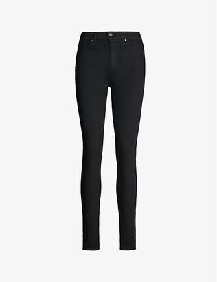Paige Denim Women's Black Shadow Hoxton Skinny Mid-Rise Jeans, Size: 23