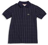 Lacoste Toddler's, Little Boy's & Boy's Windowpane Pique Polo