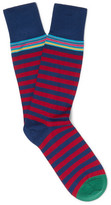 Paul Smith Striped Cotton-blend Socks - Navy