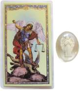 Gifts by Lulee St Michael the Archangel Laminated Prayer Card and Guardian Angel Pocket Stone