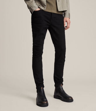 AllSaints Cigarette Skinny Jeans, Jet Black
