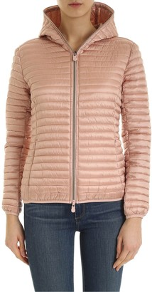 Save The Duck Quilted Jacket With Logo Patch