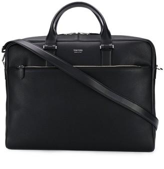 Tom Ford Logo Embossed Laptop Bag