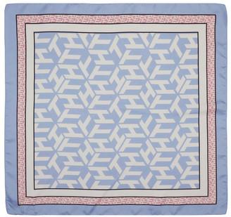 Tommy Hilfiger AW0AW08501_C32 Monogram Frame Silk Square Scarf