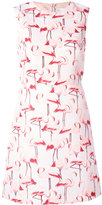 RED Valentino flamingo sleeveless shift dress - women - Polyester/Acetate - 40