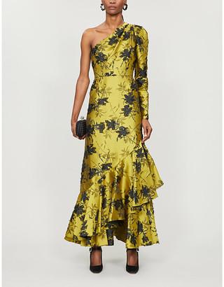 Erdem Doriana one-shoulder floral-print fil coupe maxi dress