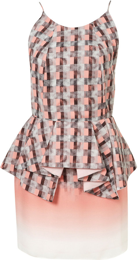 Topshop **LIMITED EDITION Strappy Pink Peplum Dress