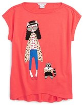 Little Marc Jacobs Girl's 'Fancy Miss Marc' Graphic Tee