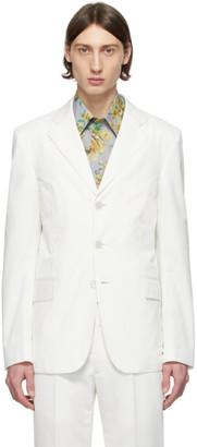 Givenchy White Twill Blazer