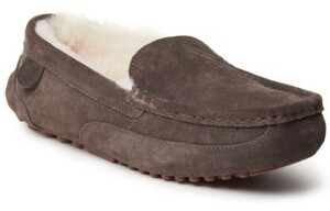 Dearfoams Fireside Melbourne Shearling Moccasin Slippers Men's Shoes