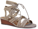 Bamboo Taupe Talented Gladiator Wedge Sandal