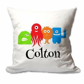 Zoomie Kids Munson Personalized Little Monsters Throw Pillow Cover Customize: Yes