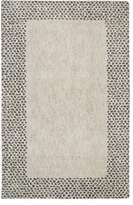 American Rug Craftsmen Mohawk Home Laguna Spotted Border Woven Rug, 8'x10', Gray