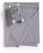 Sofia Cashmere Cashmere Baby Blanket & Teddy Bear Set