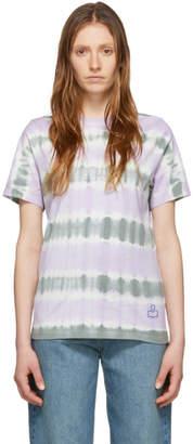 Etoile Isabel Marant Green and Purple Dena T-Shirt