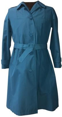 Prada Blue Cotton Trench Coat for Women