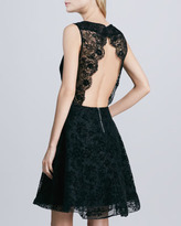 Alice + Olivia Natalia Open-Back Lace Dress