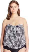 CoCo Reef Women's Plus Size Harmony Mix Bra Bandini Tankini