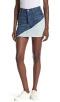 Levi's Raw Edge Hem Colorblock Denim Mini Skirt