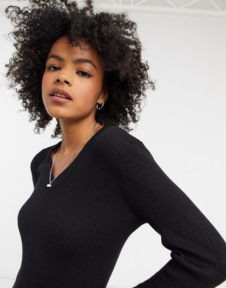 Gianni Feraud v-neck jumper in black