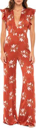 N. Revel Rey Farrah Jumpsuit - Rust Lily