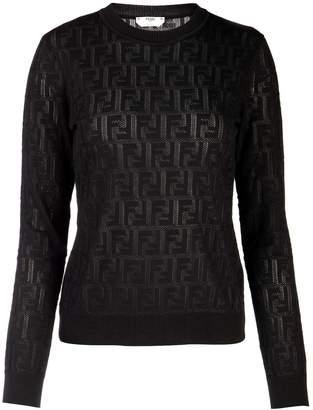 Fendi Jacquard Knit Ff Sweater