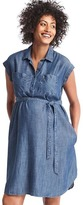 Gap Maternity TENCEL denim shirtdress