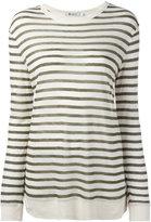 Alexander Wang striped top - women - Linen/Flax/Viscose - XS