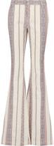 Derek Lam 10 Crosby Cotton and linen-blend jacquard bootcut pants