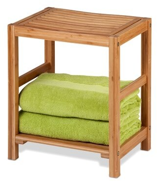 "Honey-Can-Do 13"" W Bamboo Shower Bench"