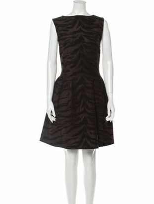 Alaia Bateau Neckline Mini Dress w/ Tags Brown