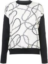 Alexander Wang wire print front jumper