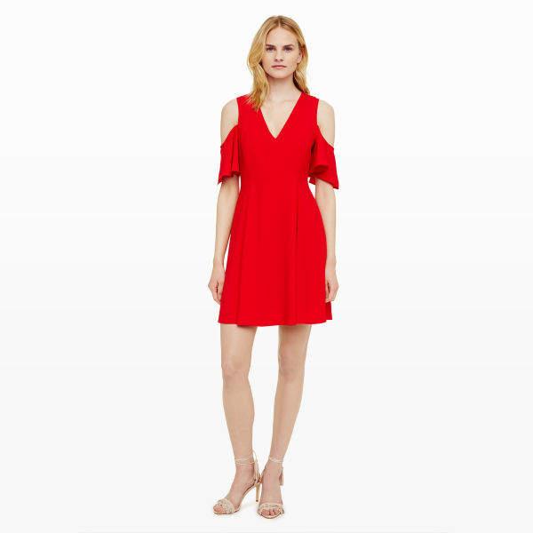 Club Monaco Pernille Cold-Shoulder Dress
