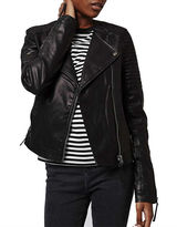 Topshop PETITE Quilted Faux-Leather Biker Jacket