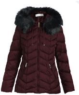 T Tahari Merlot Paris Wool-Blend Coat