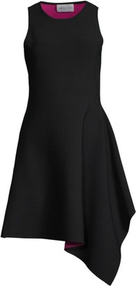 Milly Asymmetrical Hem Knit Dress