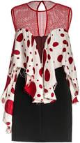 Leka Polka Dot Ruffle Front Mini Dress