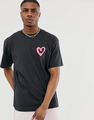 Cheap Monday heart t-shirt-Black